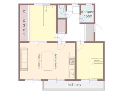 Floor plan: Nakamiya Daiyon